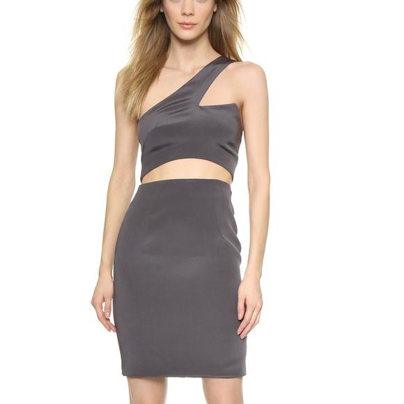 e37a470044a Olcay Gulsen One Shoulder Cutout Dress